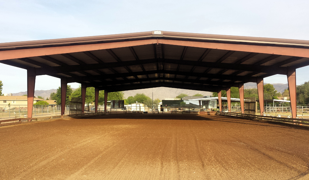 Our Covered Dressage Arena